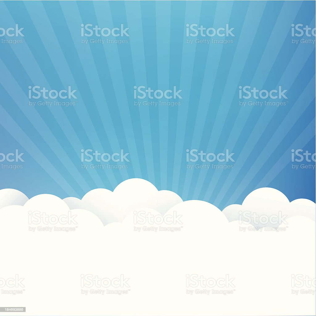 Sky Background vector art illustration