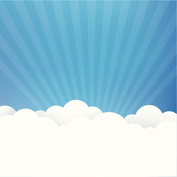 Sky Background Sky background with white clouds heaven stock illustrations