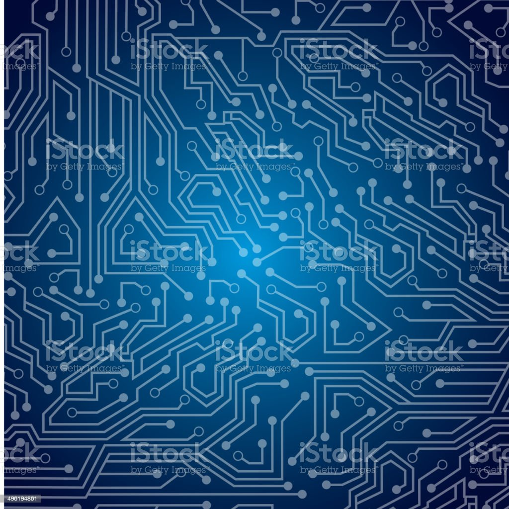 sky circuit vector art illustration