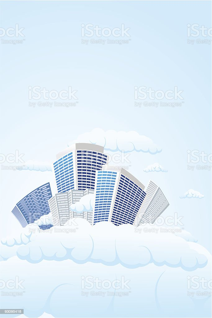 Sky city royalty-free sky city stock vector art & more images of building - activity