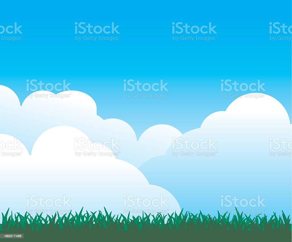 空雲草背景 のイラスト素材 480317486 | istock