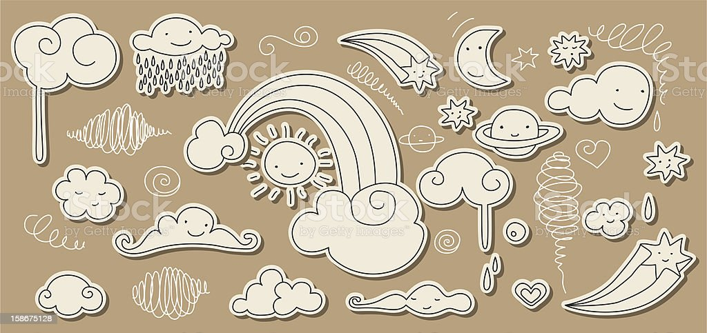 Sky doodle royalty-free stock vector art