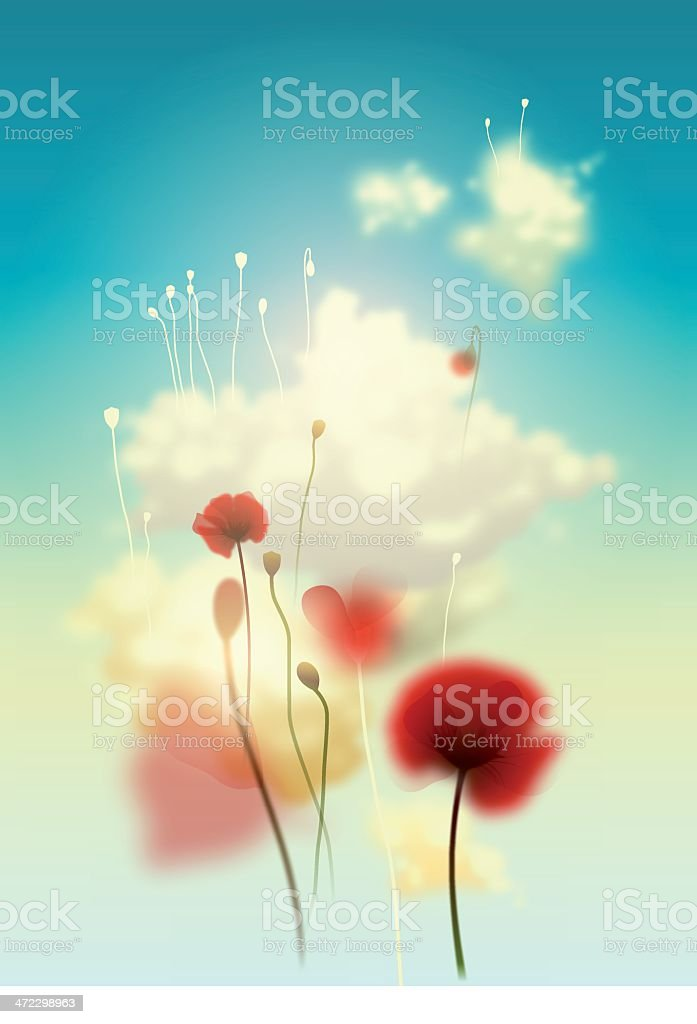 sky flowers royalty-free stock vector art