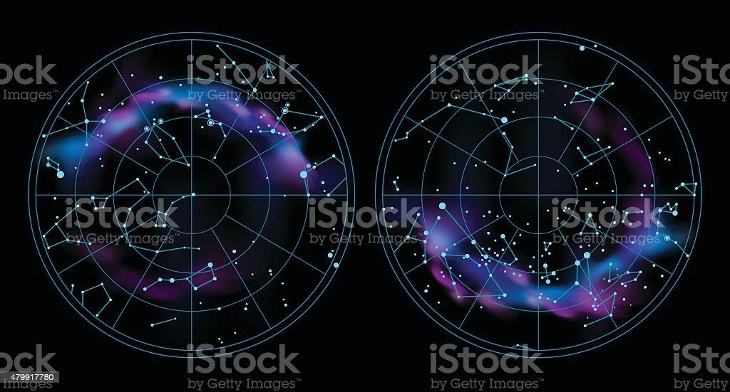 Sky map illustration vector art illustration