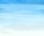 istock Sky simple watercolor background 1254540123