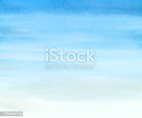 Sky simple watercolor background