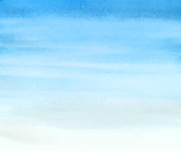 ilustrações, clipart, desenhos animados e ícones de fundo de aquarela simples do céu - sky