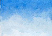 istock Sky simple watercolor background 1269640894