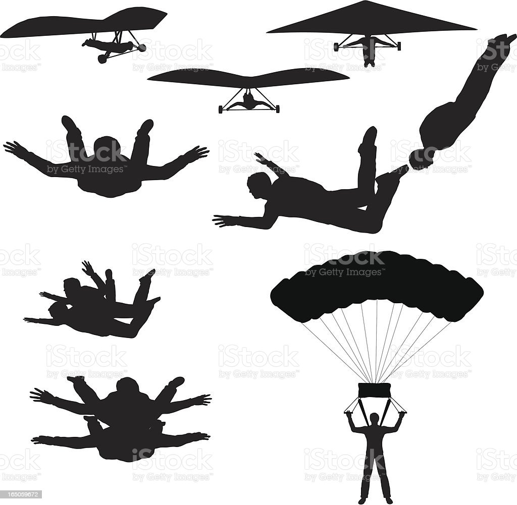 Sky Sports Silhouette Collection (vector+raster) royalty-free stock vector art