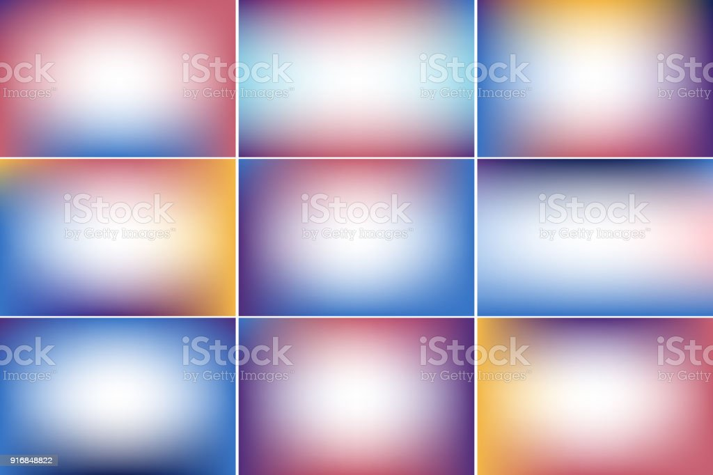 Sky sunset banner. Gradient vector backgrounds collection vector art illustration