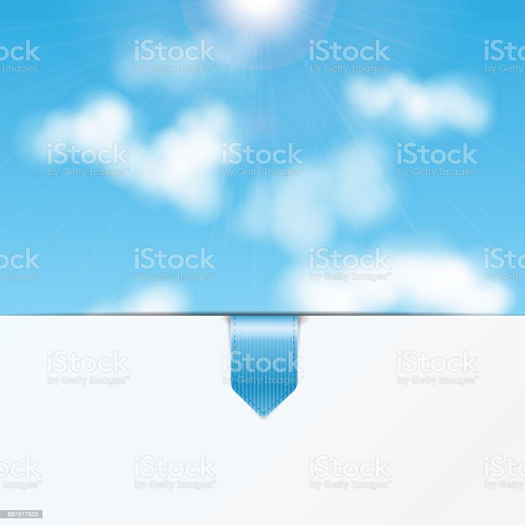 Sky vector art illustration