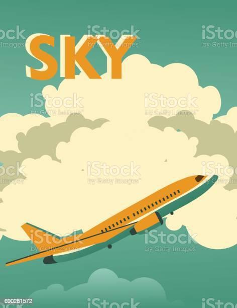 Sky vintage poster vector id690281572?b=1&k=6&m=690281572&s=612x612&h=xxrdddlhk hexxabijh7ok9i7lardliizwy ssma3qc=