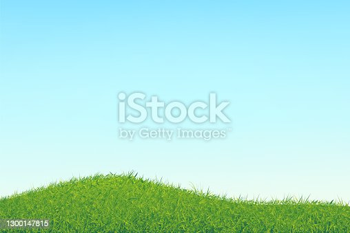 istock Sky with a soft gradient and abstract chaotic grass. 1300147815