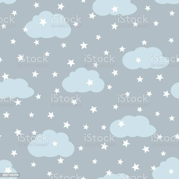 Sky with clouds and stars seamless pattern for children vector id885168556?b=1&k=6&m=885168556&s=612x612&h=qvz929umkbmcupwnf8hp0tj8mqza07ltykrpk hscuq=