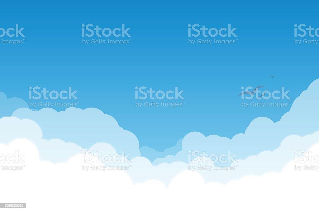 Himmel mit Wolken  – Vektorgrafik