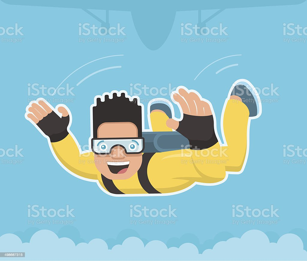 Skydiver vector art illustration