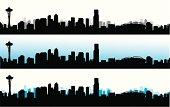 Skyline Blue Vector Silhouette