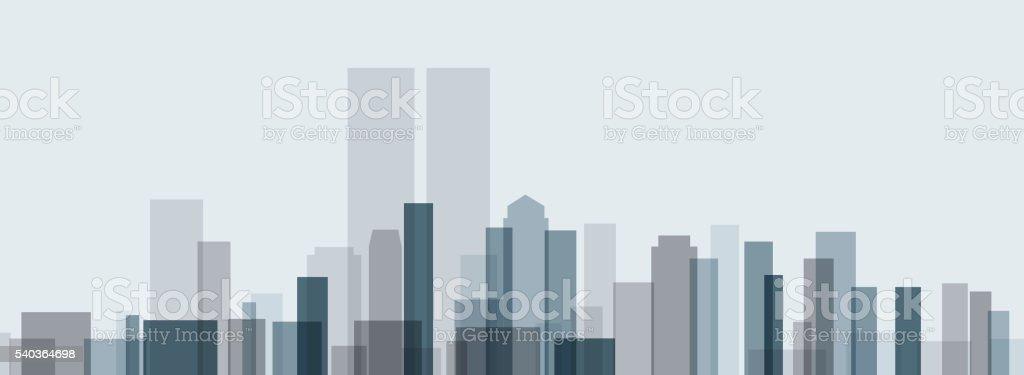 skyline landscape design vector art illustration