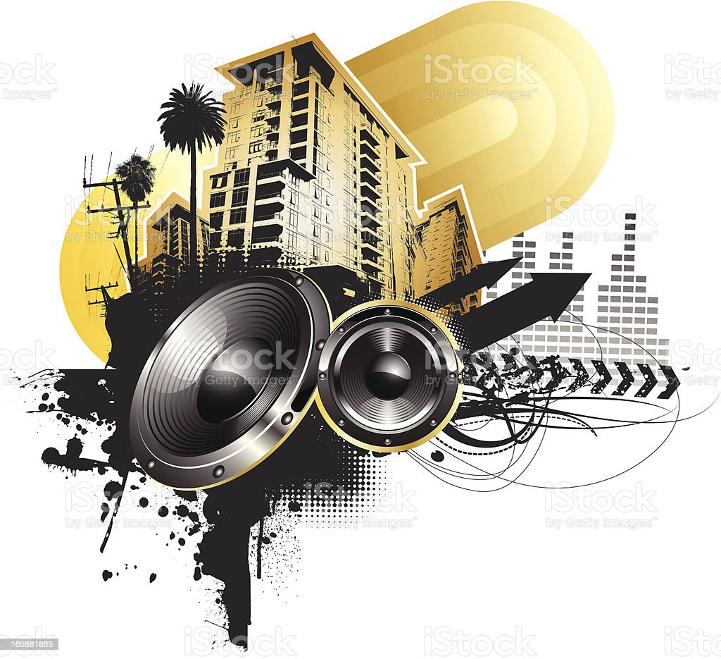 skyline speaker sound royalty-free stock vector art