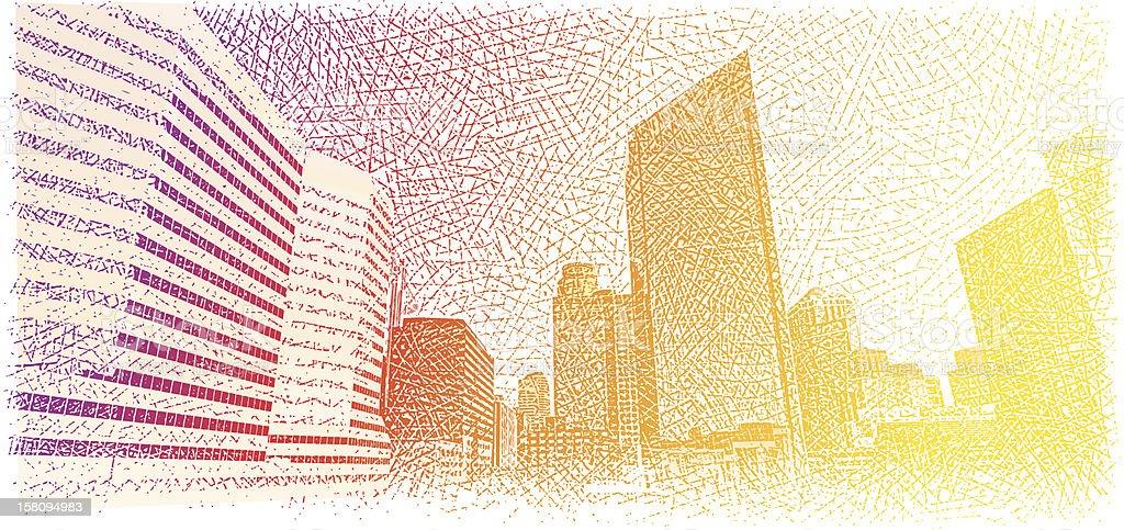 Skyline Sunrise royalty-free skyline sunrise stock vector art & more images of architecture