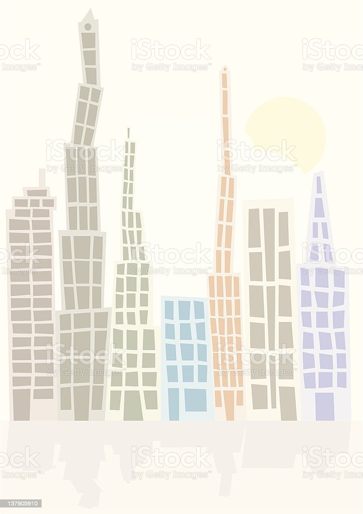 Skyline royalty-free skyline stock vector art & more images of apartment