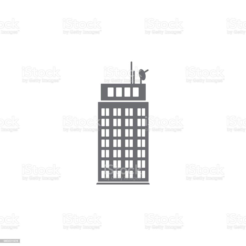 wolkenkratzergebäudesymbol einfaches element abbildung wolkenkratzer