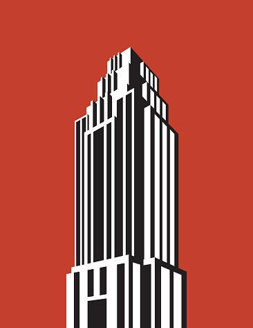 Skyscraper building vector illustration.