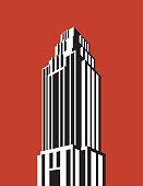 istock Skyscraper building vector illustration. 894442868