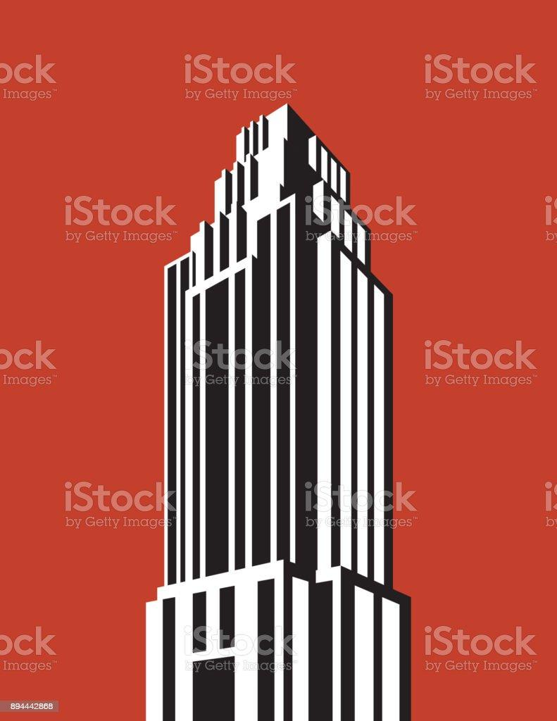 Skyscraper building vector illustration. vector art illustration