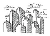 Skyscraper Cityscape Buildings Drawing