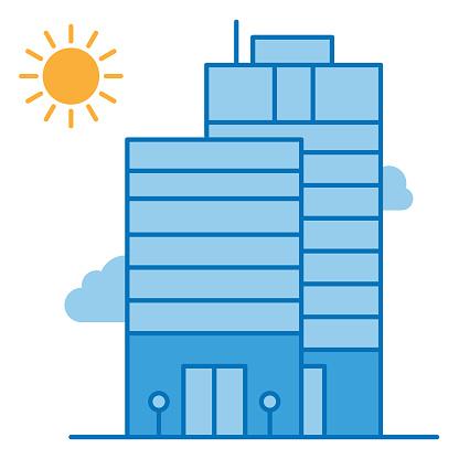 skyscraper line vector icon