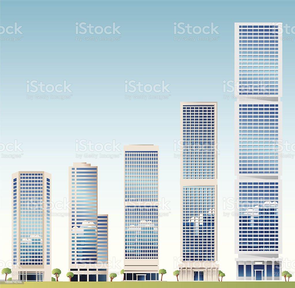 Skyscraper royalty-free skyscraper stock vector art & more images of architecture