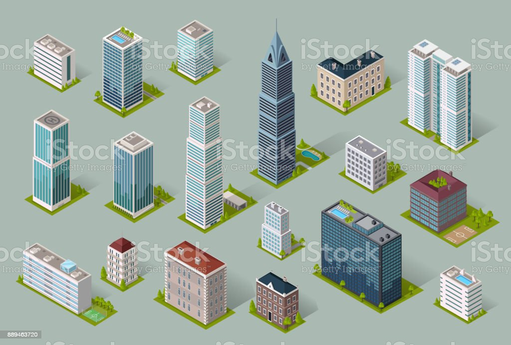Skyscrapers House Building Icon royalty-free skyscrapers house building icon stock illustration - download image now
