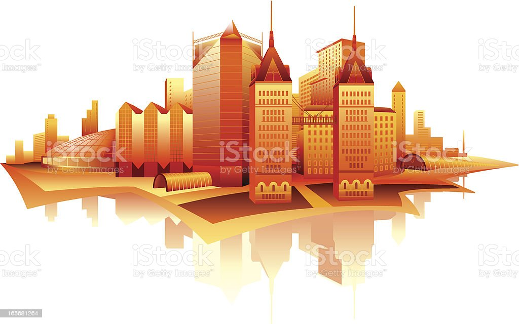 Skyscrapers in a city royalty-free skyscrapers in a city stock vector art & more images of apartment