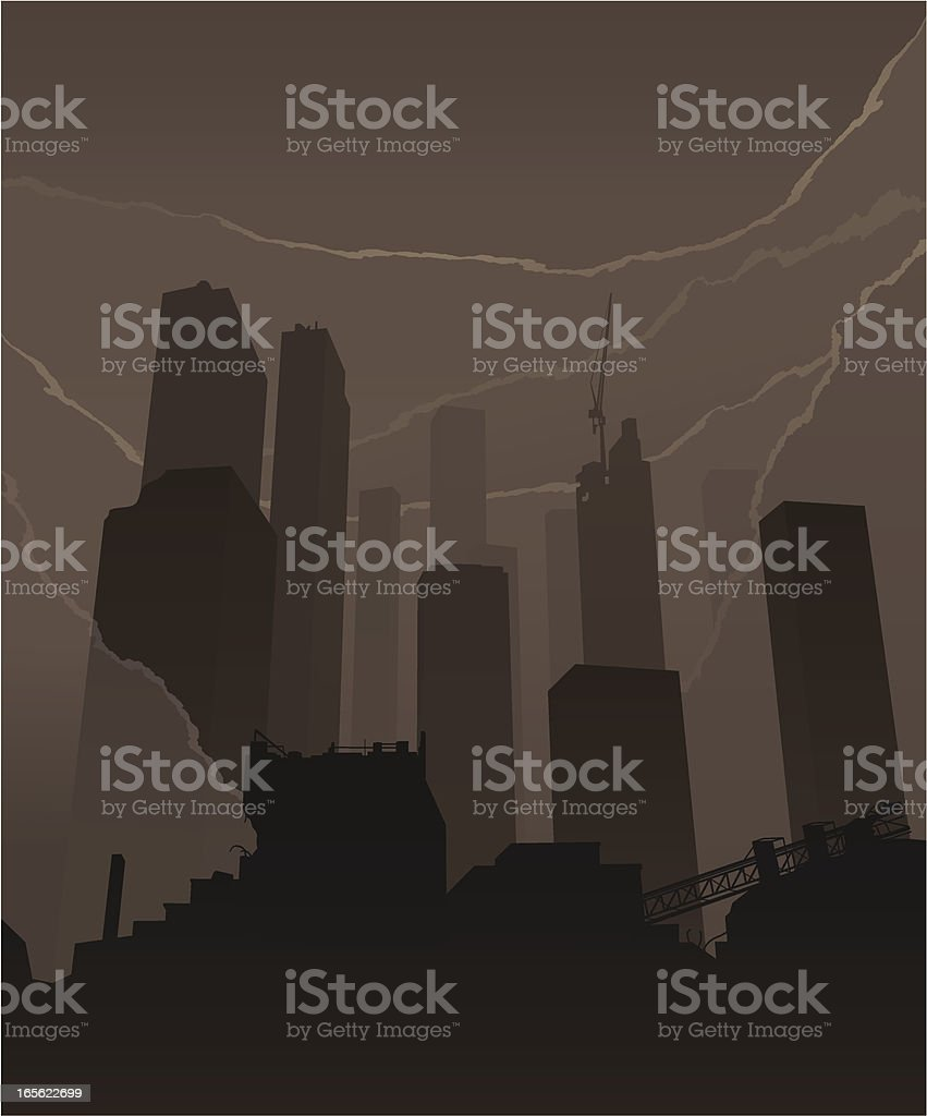 Skyscrapers smoke royalty-free skyscrapers smoke stock vector art & more images of abandoned