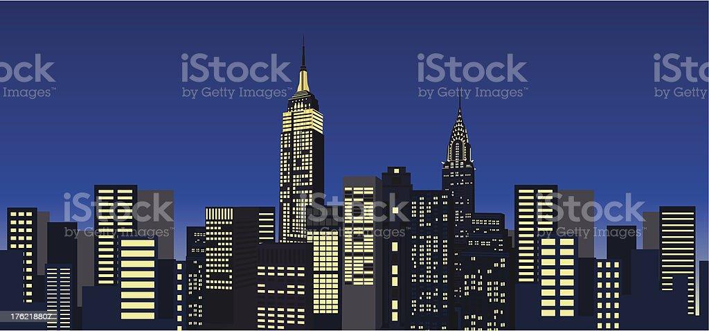 Skyscrapers vector art illustration