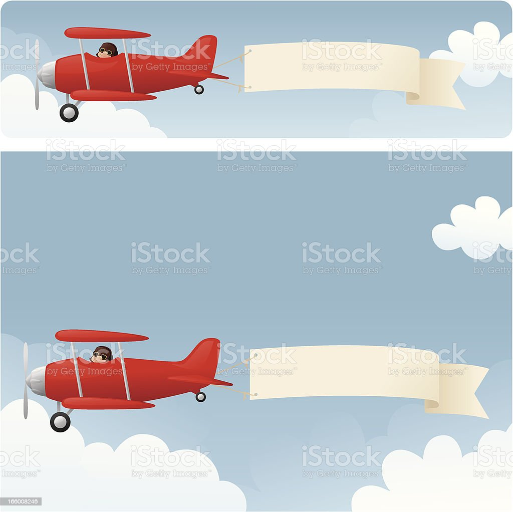 Skywriting vector art illustration