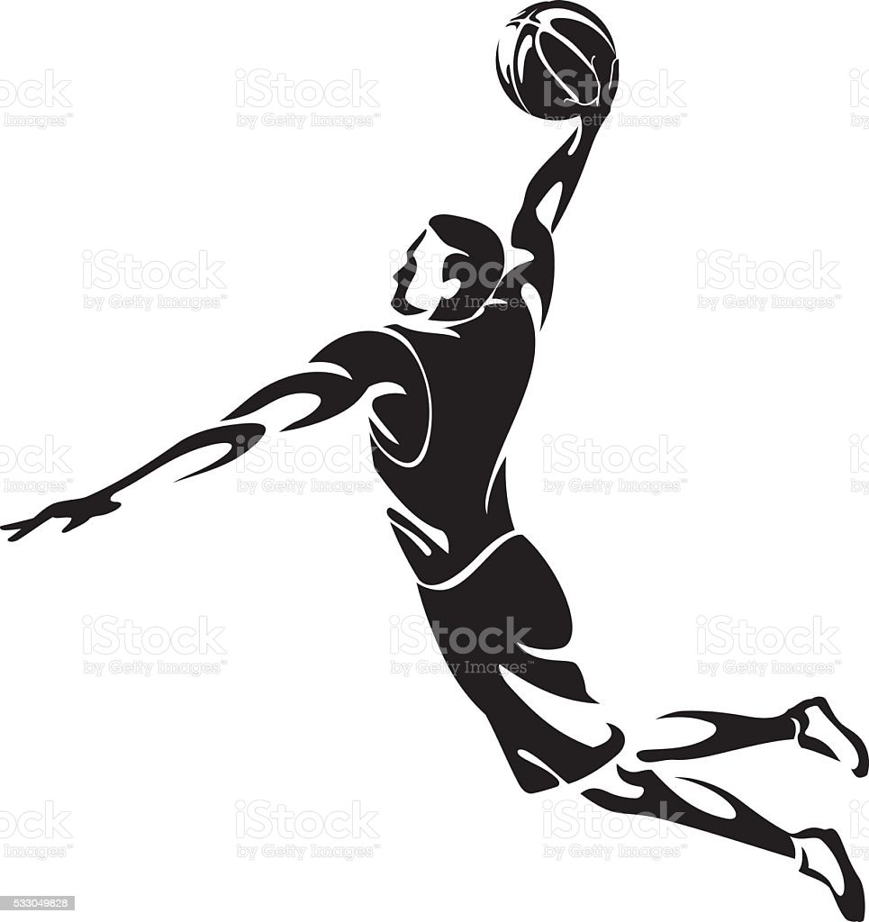 Slam Dunk Abstract vector art illustration