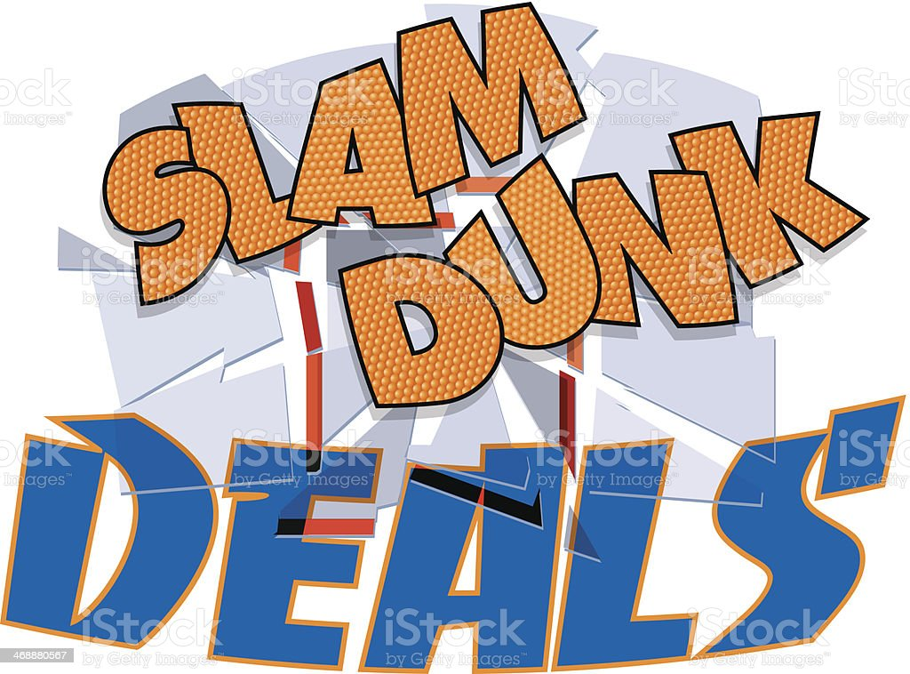 Slam Dunk Deals Heading vector art illustration