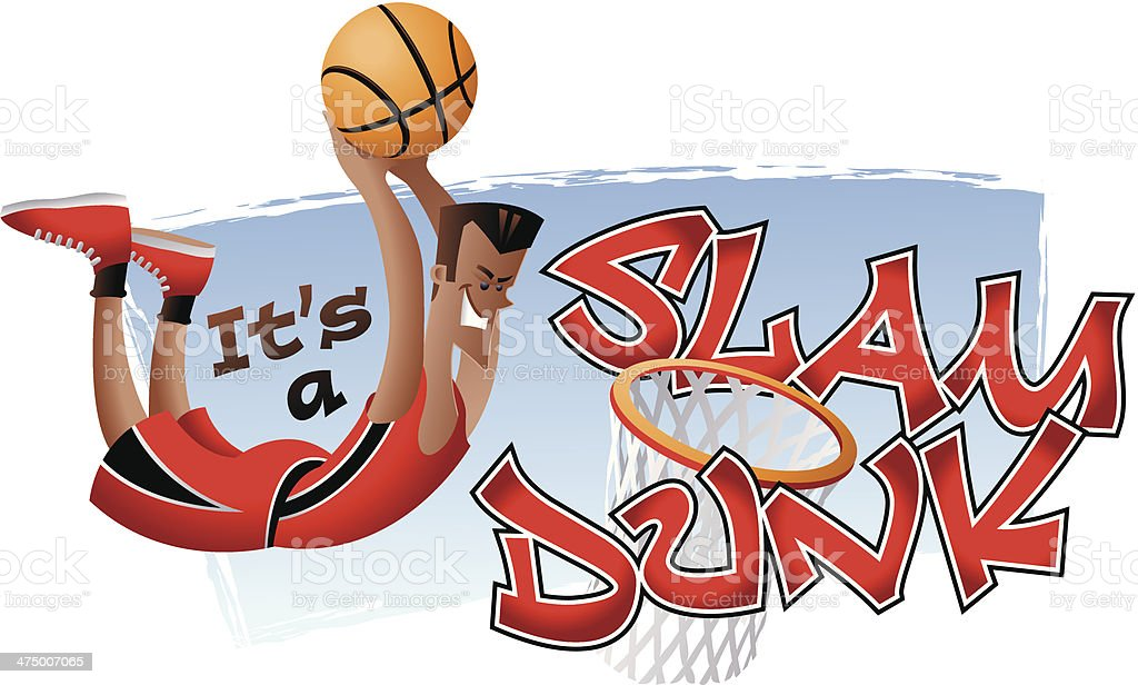 Slam Dunk Heading C vector art illustration