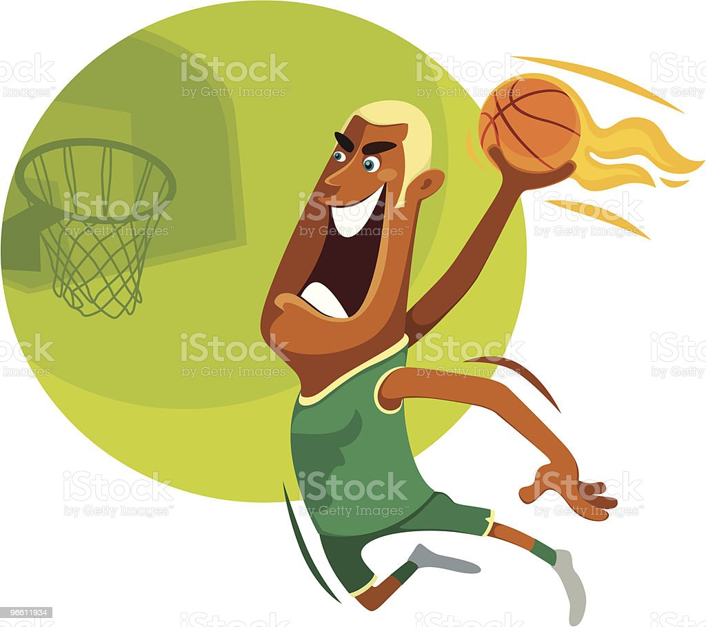 slam dunk - Royalty-free Adult stock vector