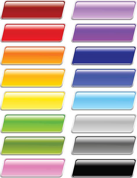 slanted rectangle menu buttons - byteandpixel stock illustrations