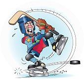 Slap shot in hockey