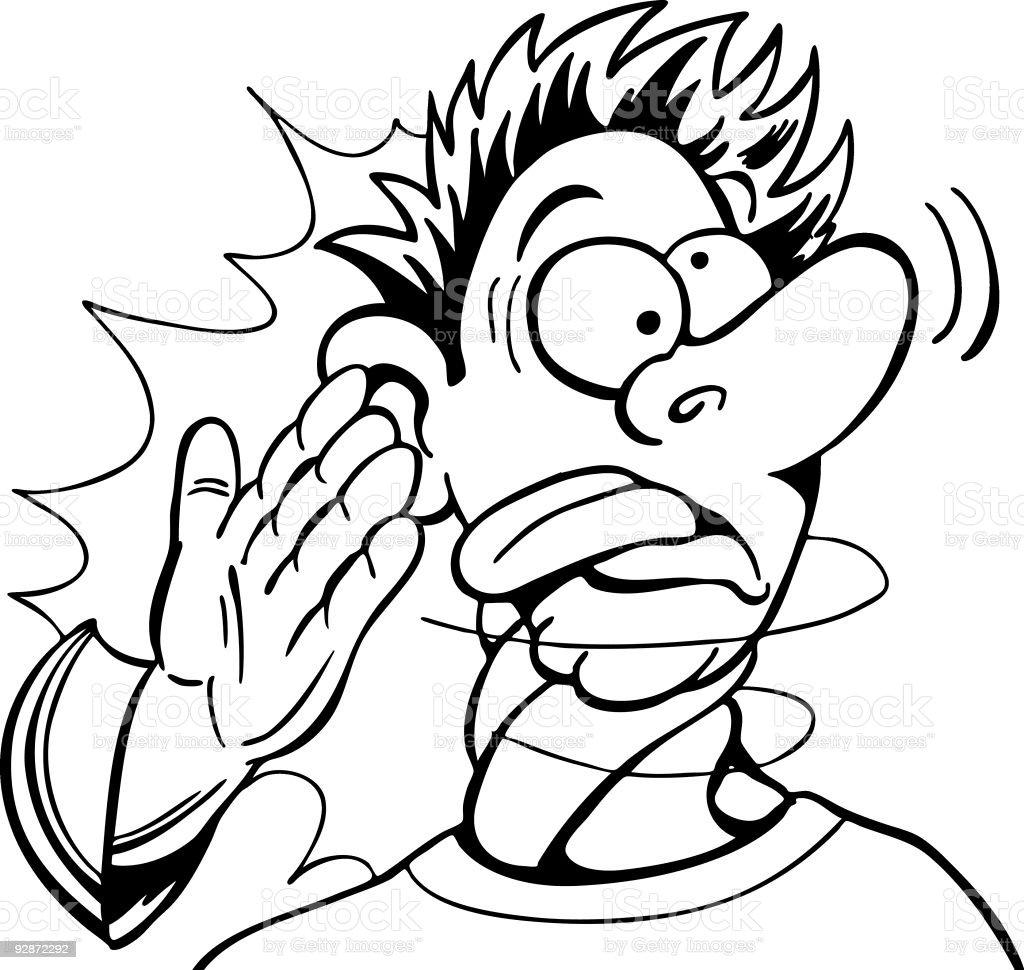 Slapped Silly Line Art vector art illustration
