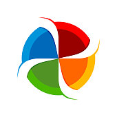 4 Slash Circular Spinner Blend Vector Symbol Graphic Design