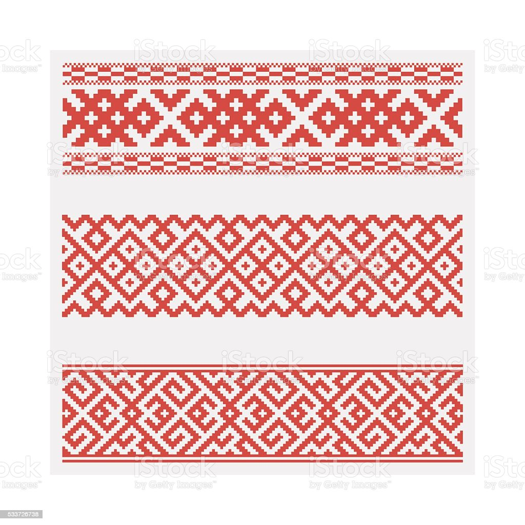 Slavic ethnic ornament. Vector illustration, seamless pattern.