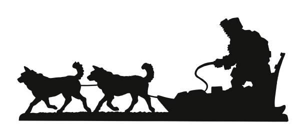 schlitten und schlittenhunde - parkas stock-grafiken, -clipart, -cartoons und -symbole