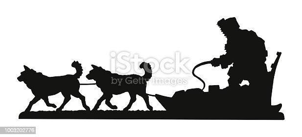 Motoneige et tra neau chiens vecteurs libres de droits - Coloriage chien de traineau ...