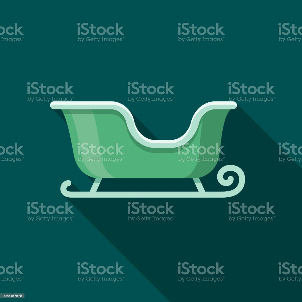 Sled Flat Design Winter Icon with Side Shadow royalty-free sled flat design winter icon with side shadow stock illustration - download image now