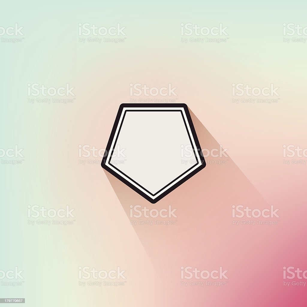 Sleek Geometric Flat Design Frame Long Shadow Soft Defocus Background royalty-free sleek geometric flat design frame long shadow soft defocus background stock vector art & more images of abstract
